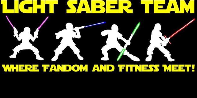 Fascinated Friday:  Light Saber Team-Where Fandom MeetsFitness