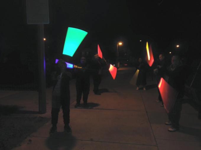 light saber team night