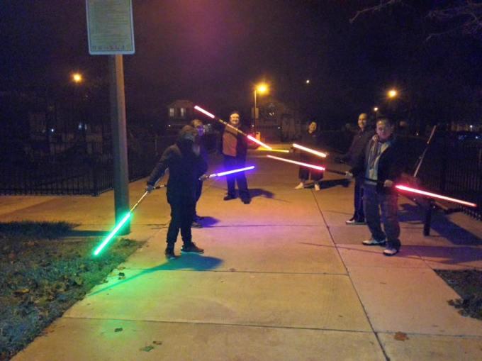 light saber team workout